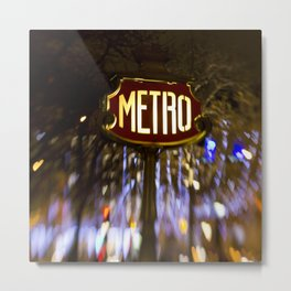Metro Love Metal Print