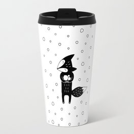 Little Fox And Snowfall Travel Mug
