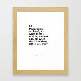 Antoine's Perfection Framed Art Print