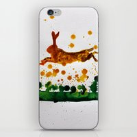 hare iPhone & iPod Skins featuring Hare by Condor