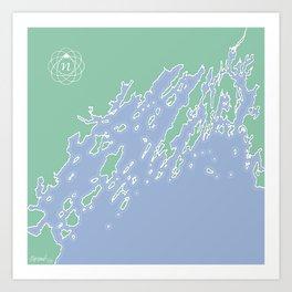 Casco Bay Maine USA Art Print