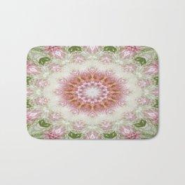 Pink Chrysanthemums Kaleidoscope Art 3 Bath Mat