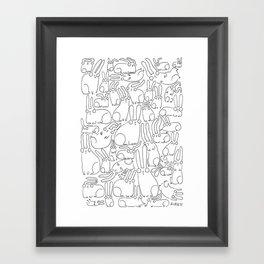 puzzle bunnies Framed Art Print