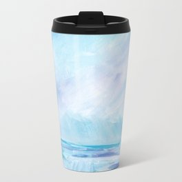 Sun Showers - Purple Ocean Seascape Travel Mug