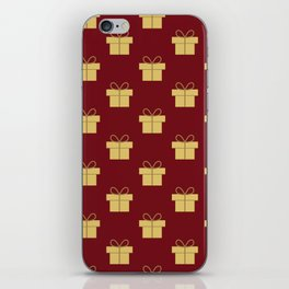 Christmas gifts - red and gold iPhone Skin