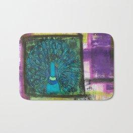 Color Block Peacock Bath Mat
