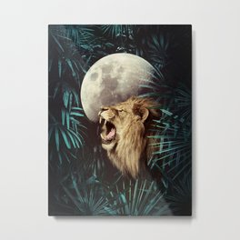 Lion in the Jungle Metal Print