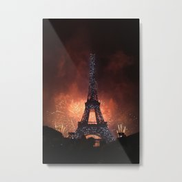 As France Celebrates Their Nation's Birthday Metal Print