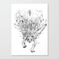 Diving Tiger Canvas Print