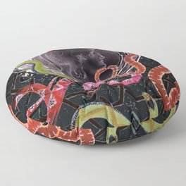 Minerva and snakes Floor Pillow