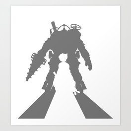 Little Sister and Big Daddy Silhouette Art Print