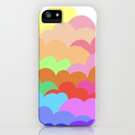rainbow clouds iPhone Case
