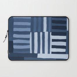 Painted Color Block Grid in Blue Laptop Sleeve