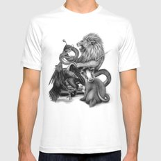 The Founders White LARGE Mens Fitted Tee