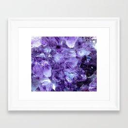Amethyst Crystals Framed Art Print
