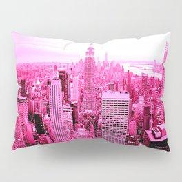 New York City Pink Pillow Sham
