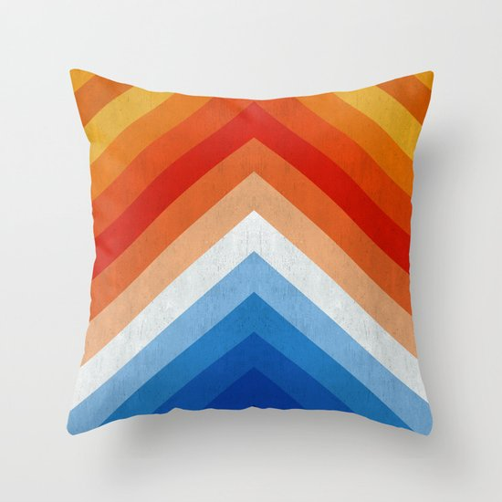 blue and red pattern i throw pillow by the spirit of art
