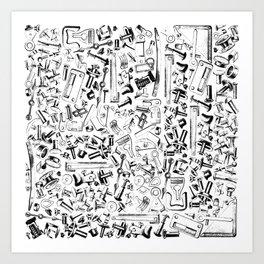 Hardware Black Art Print