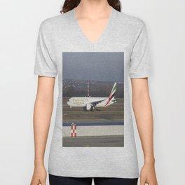 Emirates Boeing 777-300ER Unisex V-Neck