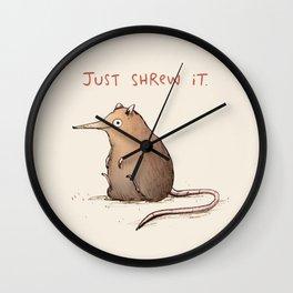 Just Shrew It Wall Clock