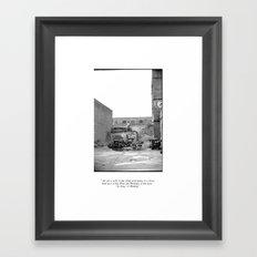 The City 3: Brooklyn In The Back Framed Art Print