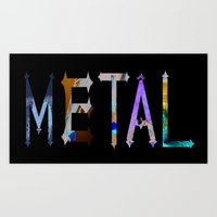 metal Art Prints featuring Metal by Dymond Speers