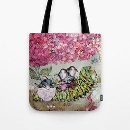 Herbal Tea - Pink Hydrangea Tote Bag