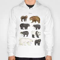 bears Hoodies featuring Bears by Amy Hamilton