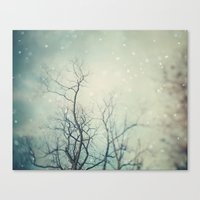 poem Canvas Prints featuring Winter Poem  by Laura Ruth