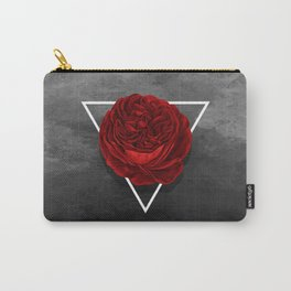 The Rose (black version) Carry-All Pouch
