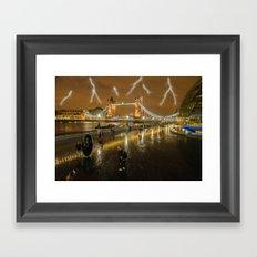 Lightning In London Framed Art Print