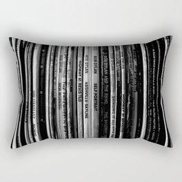 Folk Rock Records Rectangular Pillow