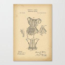 1875 Patent Corset Canvas Print
