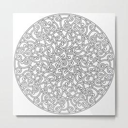 Mandala black 4 Metal Print