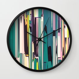 Abstract Composition 640 Wall Clock