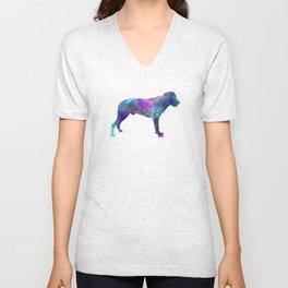 Majorca Shepherd Dog in watercolor Unisex V-Neck