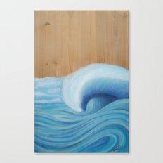 Wooden Wave Scape Canvas Print