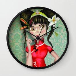 Oriental princess Wall Clock