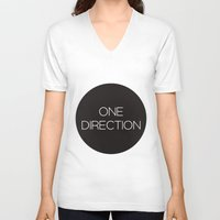 one direction V-neck T-shirts featuring One Direction by harrystyless