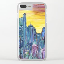 Philadelphia Skyline Clear iPhone Case