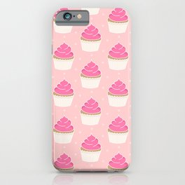 Pink Cupcakes with Frosting iPhone Case