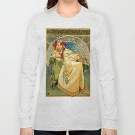 "Alphonse Mucha  ""Princess Hyacinth"" Long Sleeve T-shirt"