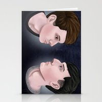 danisnotonfire Stationery Cards featuring Dan and Phil by Greenteaelf