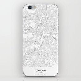 London, England Minimalist Map iPhone Skin
