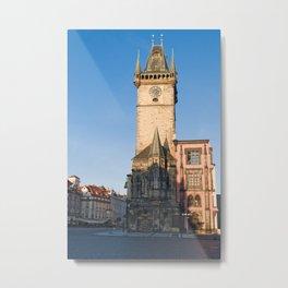 Prague view of Astronomical Clock Metal Print