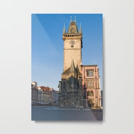 Prague view of Astronomical Clock Metal Print
