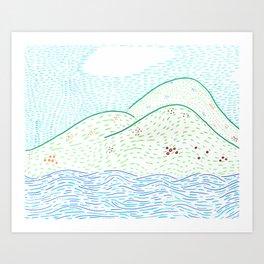 Across the sea Art Print