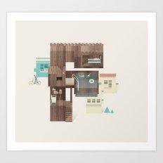 Resort Type - Letter F Art Print