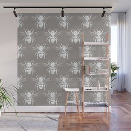 The Bee's Knees Taupe Wall Mural