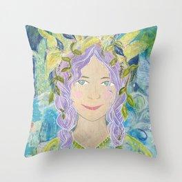Mermaid Reborn Throw Pillow
